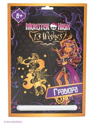 Гравюра Monster High. Клодин Вульф Centrum. Цвет: фиолетовый, черный