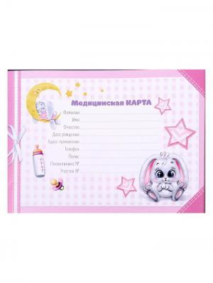 Обложка для медицинской карты А М Дизайн. Цвет: молочный, горчичный, розовый
