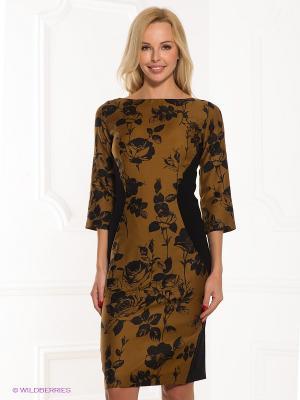 Платье ЭНСО. Цвет: черный, горчичный
