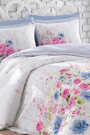 Single Quilt Cover Set Cotton box. Цвет: white, blue, pink