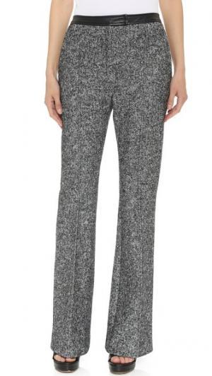 Расклешенные меланжевые брюки EDUN. Цвет: серый