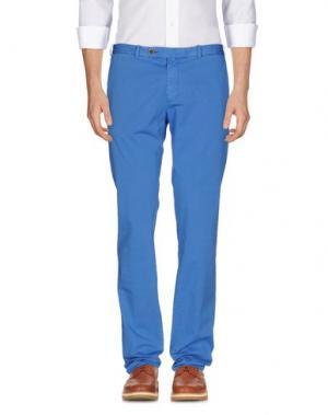 Повседневные брюки LUIGI BORRELLI NAPOLI. Цвет: лазурный