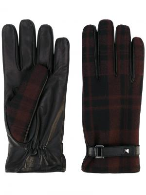 Перчатки в клетку  Garavani Valentino. Цвет: коричневый