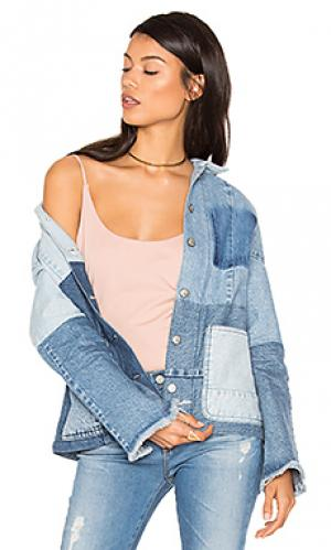 Джинсовая куртка с накладкой PRPS Goods & Co. Цвет: none