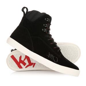 Кеды кроссовки высокие  State Le Black/Red K1X. Цвет: черный