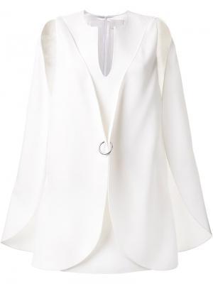 Платье в стиле кейп Dion Lee. Цвет: белый