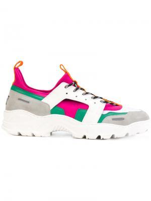 Беговые кроссовки из неопрена Ami Alexandre Mattiussi. Цвет: многоцветный