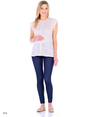 Блузка для беременных Hunny Mammy. Цвет: бежевый