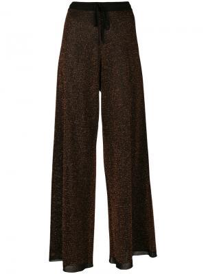 Расклешенные брюки Pringle Of Scotland. Цвет: коричневый