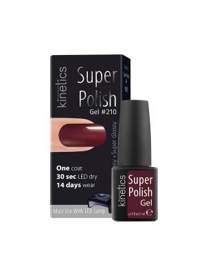 Однофазный гель-лак Super Polish (в коробке) (210) Kinetics. Цвет: бордовый