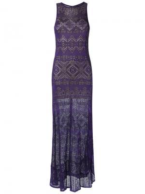 Knit long dress Cecilia Prado. Цвет: розовый и фиолетовый