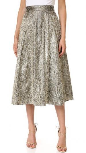 Широкая юбка Lela Rose. Цвет: теплый серебристый