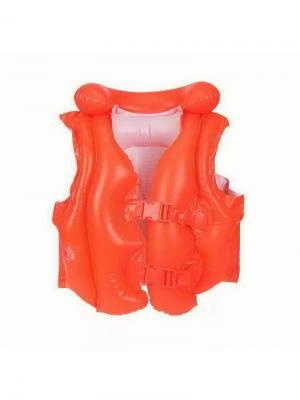 Жилет надувной для плавания оранжевый 3-6лет Intex. Цвет: оранжевый