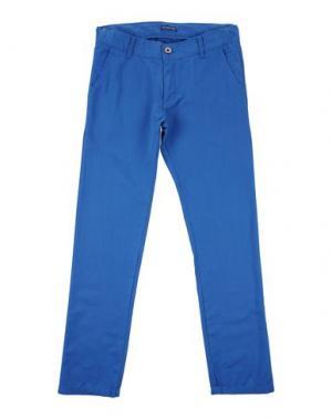 Повседневные брюки COTTON BELT. Цвет: синий