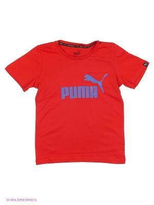 Футболка ESS No.1 Tee Puma. Цвет: красный