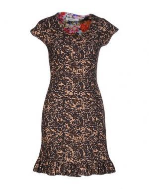 Короткое платье LEITMOTIV. Цвет: темно-синий