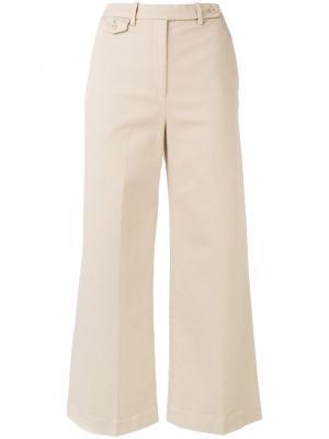 Укороченные брюки-чинос Theory. Цвет: телесный