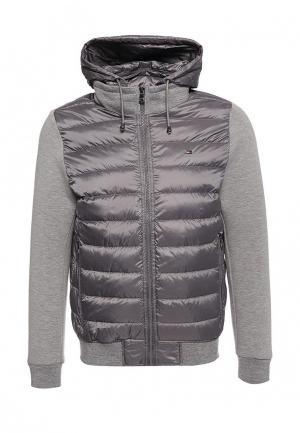 Куртка утепленная Tommy Hilfiger. Цвет: серый