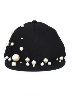 Декорированная кепка Piers Atkinson. Цвет: чёрный