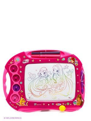 Доска магнитная Winx Играем вместе. Цвет: фуксия, белый