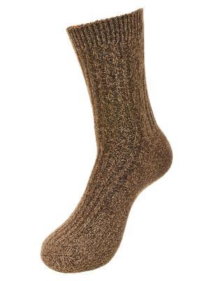 Носки s-family. Цвет: коричневый