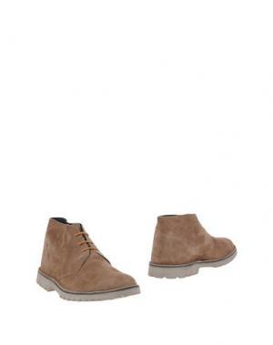 Полусапоги и высокие ботинки BRAWN'S. Цвет: хаки