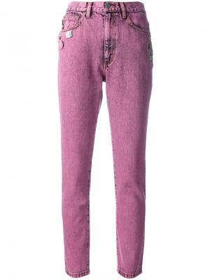 Джинсы скинни Marc Jacobs. Цвет: розовый и фиолетовый