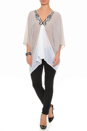 Блуза XS MILANO. Цвет: бежевый