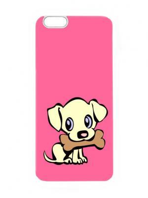 Чехол для iPhone 6 Пес с косточкой Chocopony. Цвет: лиловый, кремовый, черный