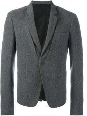 Пиджак с декоративной строчкой Haider Ackermann. Цвет: серый