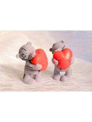 Сувенир.мыло - Теддми с сердцем Entourage. Цвет: серый