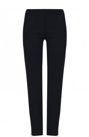 Однотонные брюки прямого кроя из шерсти Stella McCartney. Цвет: темно-синий