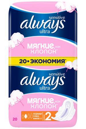 Прокладки  Ultra, 20 шт ALWAYS. Цвет: none