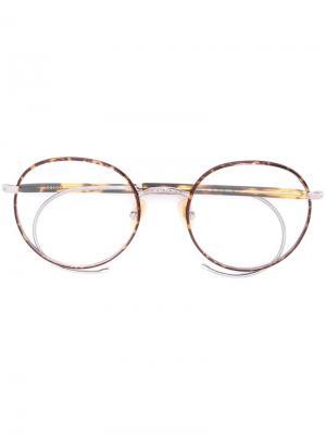 Очки Spiel Moscot. Цвет: коричневый