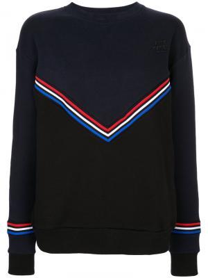 Chevron boyfriend sweatshirt Être Cécile. Цвет: синий