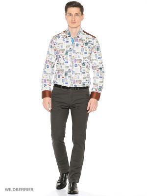 Рубашка Alex DANDY. Цвет: бежевый, голубой, зеленый