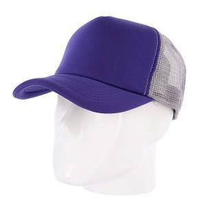 Бейсболка с сеткой  Combo Trucker Purple/Dark Grey TrueSpin. Цвет: серый,фиолетовый