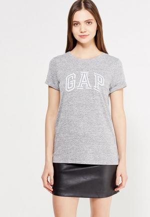 Футболка Gap. Цвет: серый