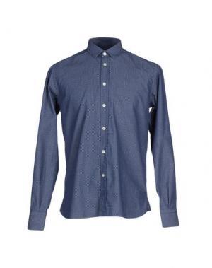 Джинсовая рубашка BRIO. Цвет: синий