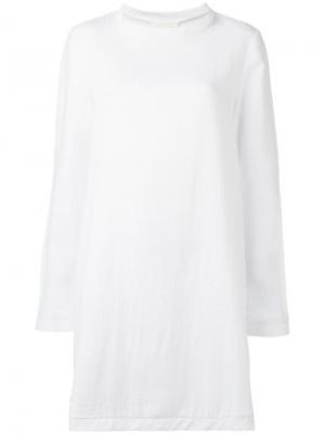 Платье с круглым вырезом Cecilie Copenhagen. Цвет: белый