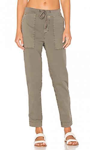 Зауженные брюки James Perse. Цвет: серо-коричневый
