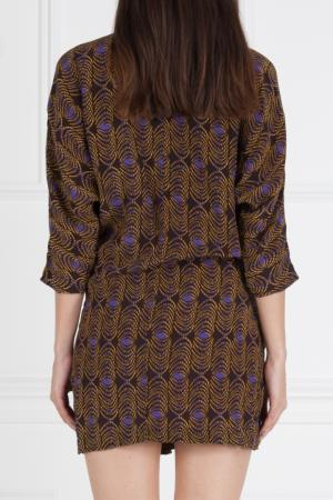 Платье с принтом Thakoon. Цвет: коричневый