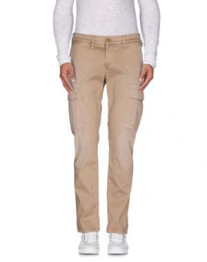 Повседневные брюки 0/ZERO CONSTRUCTION. Цвет: песочный