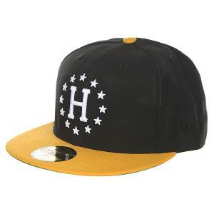 Бейсболка с прямым козырьком  Z 12 Galaxies New Era Black/Yellow Huf. Цвет: черный,оранжевый