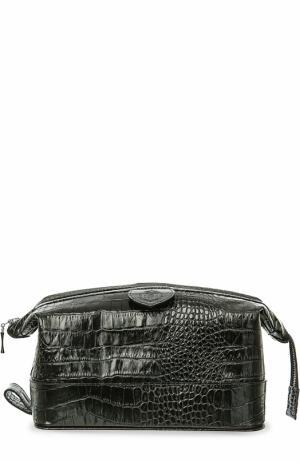 Кожаный несессер на молнии Truefitt&Hill. Цвет: черный
