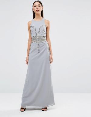 Maya Платье макси. Цвет: серый