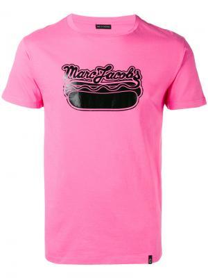 Футболка с логотипом Marc Jacobs. Цвет: розовый и фиолетовый