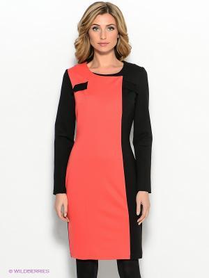 Платье Capriz. Цвет: коралловый, черный