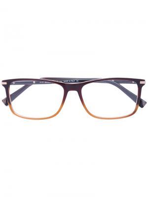 Очки с эффектом омбре Ermenegildo Zegna. Цвет: коричневый