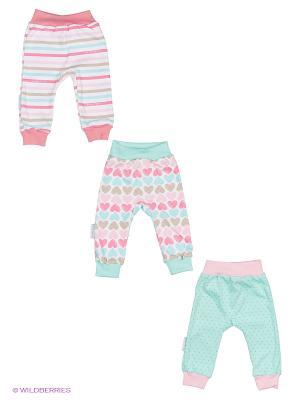 Комплект детский: штанишки 3 шт. Lucky Child. Цвет: розовый, зеленый
